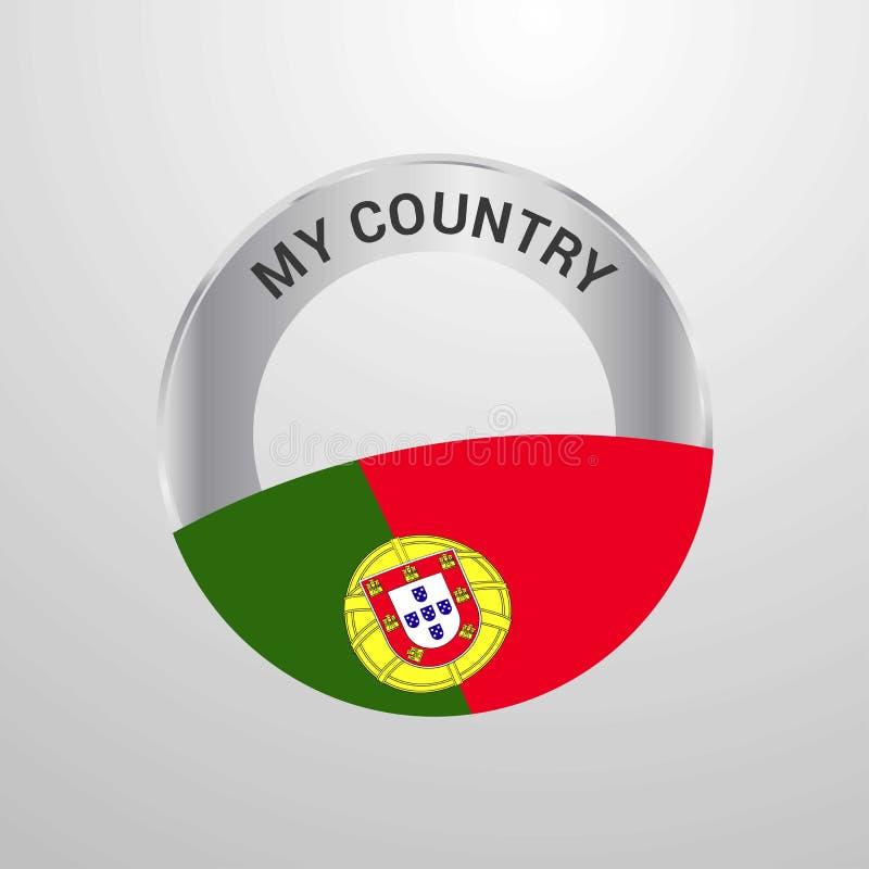 Πορτογαλία το διακριτικό σημαιών χώρας μου απεικόνιση αποθεμάτων
