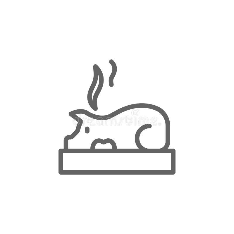 Πορτογαλία, τρόφιμα, ψημένο εικονίδιο χοίρων Στοιχείο του εικονιδίου της Πορτογαλίας r απεικόνιση αποθεμάτων