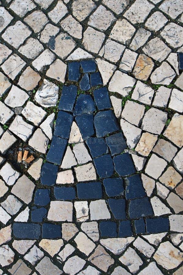 Πορτογαλικό πεζοδρόμιο καλκάνας στοκ φωτογραφίες
