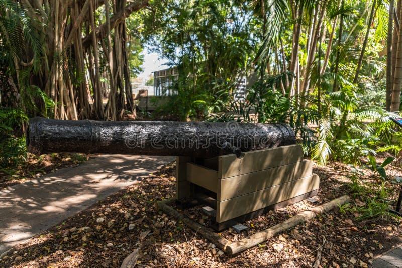 Πορτογαλικό πυροβόλο όπλο σκαφών στο στρατιωτικό μουσείο, Δαρβίνος Αυστραλία στοκ φωτογραφία με δικαίωμα ελεύθερης χρήσης