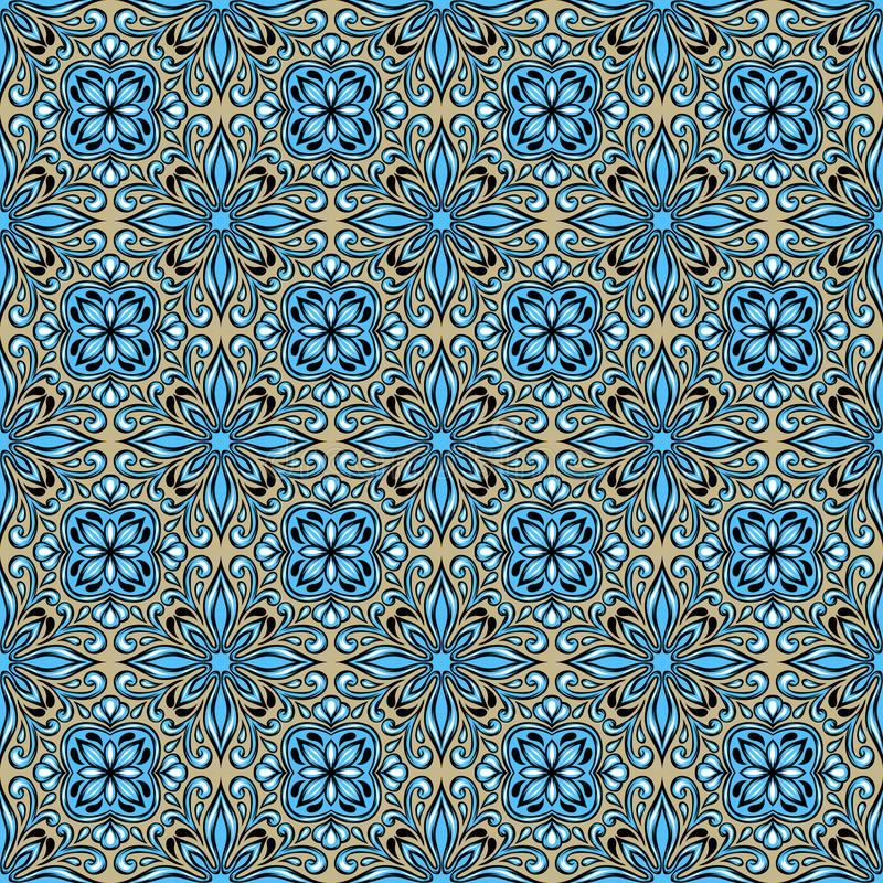 Πορτογαλικό σχέδιο κεραμικών κεραμιδιών azulejo ελεύθερη απεικόνιση δικαιώματος