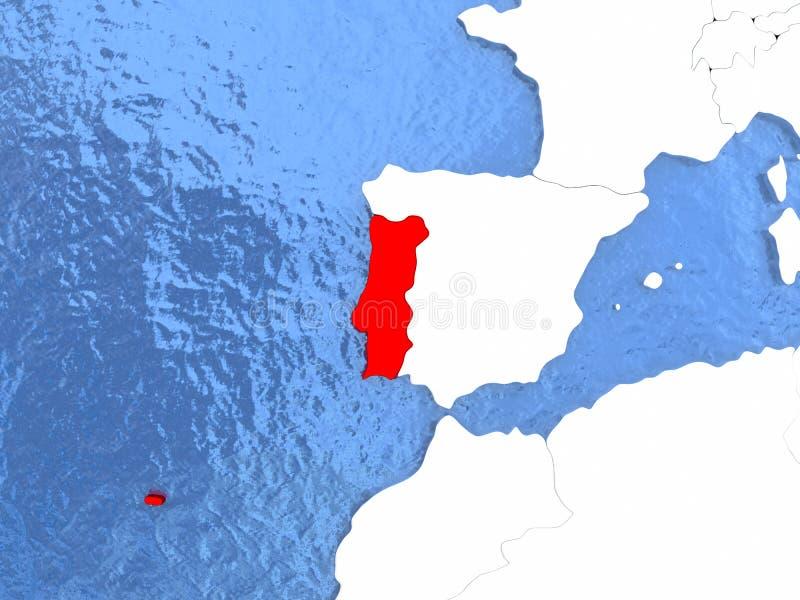 Πορτογαλία στη σφαίρα ελεύθερη απεικόνιση δικαιώματος