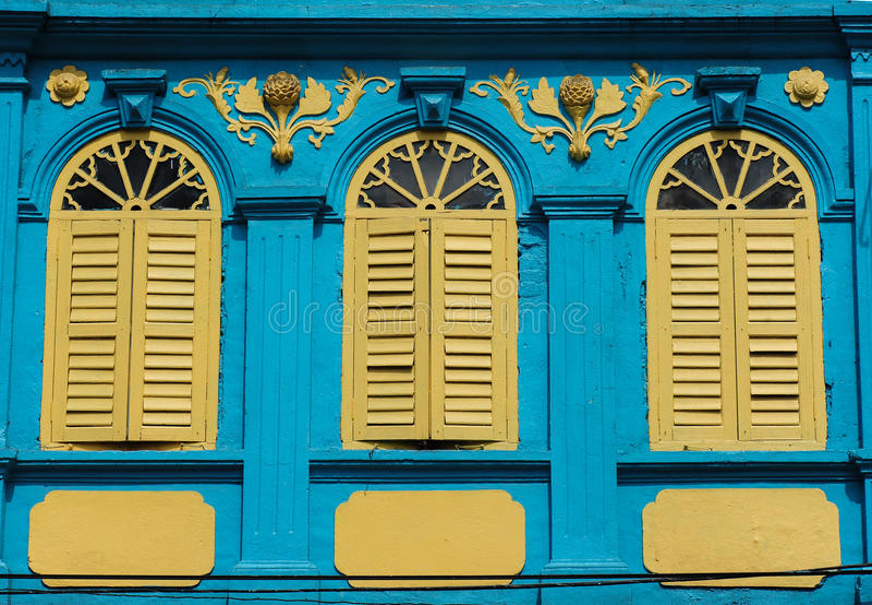 Πορτογαλικό ύφος αρχιτεκτονικής Chino στοκ φωτογραφία