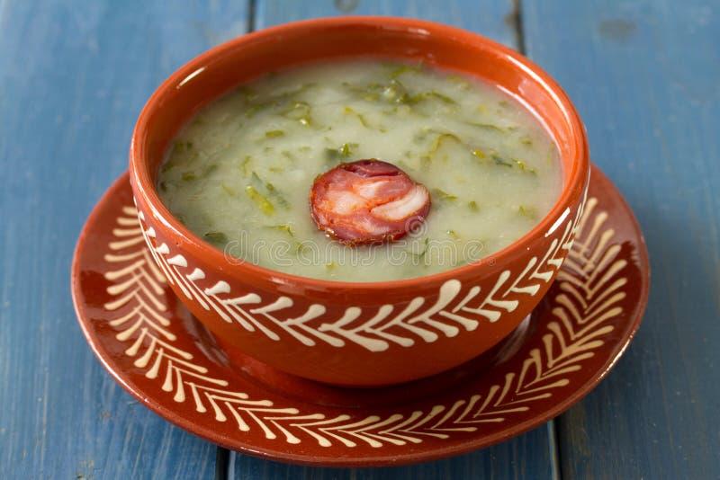 Πορτογαλικό caldo σούπας verde στοκ φωτογραφία