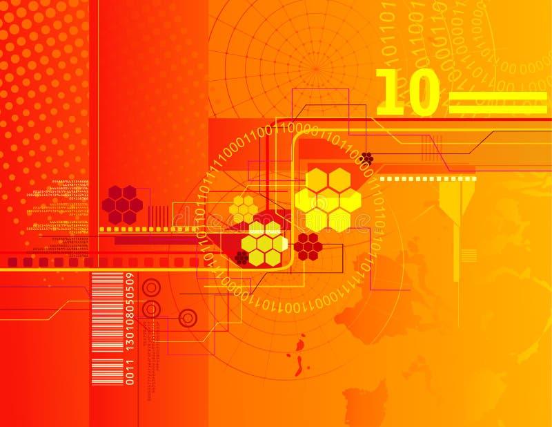 Download πορτοκάλι ανασκόπησης διανυσματική απεικόνιση. εικονογραφία από αντίθεση - 13190407
