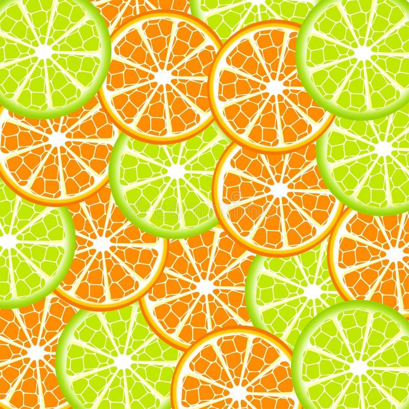 πορτοκάλι ασβέστη ανασκό&pi απεικόνιση αποθεμάτων