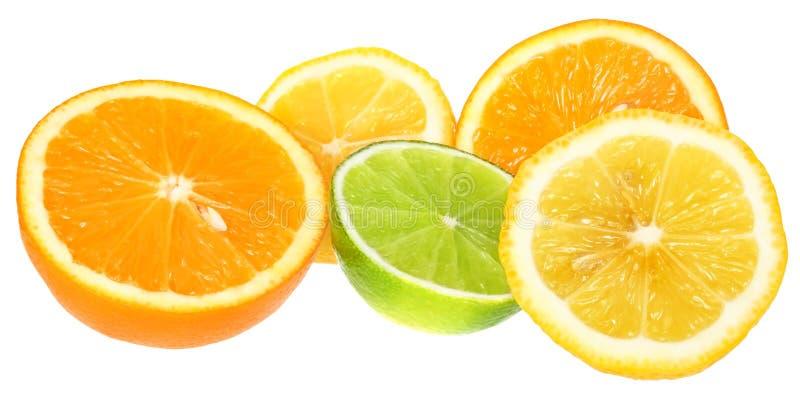πορτοκάλι ασβέστη λεμον& στοκ εικόνες