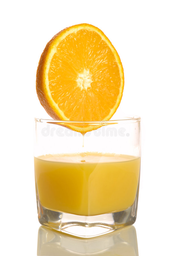 πορτοκάλι γυαλιού στοκ εικόνες