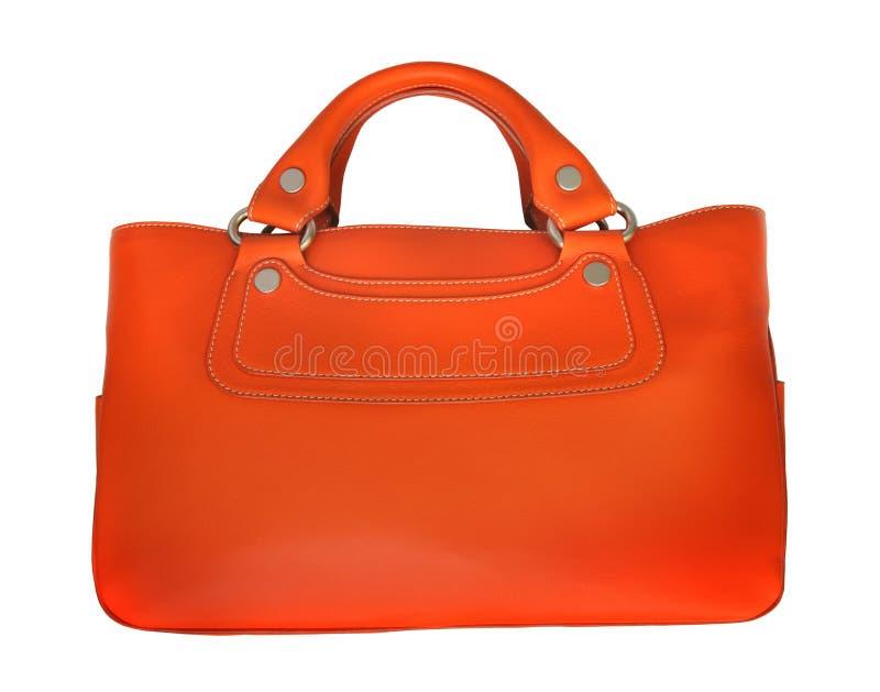 πορτοκάλι δέρματος τσαντ στοκ εικόνα με δικαίωμα ελεύθερης χρήσης