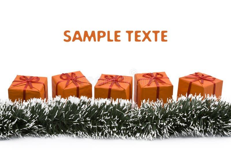 πορτοκάλι δώρων Χριστου&gam στοκ εικόνες