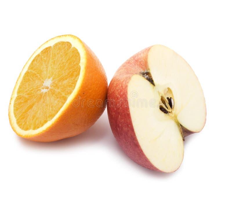 πορτοκάλι καρπού μήλων στοκ εικόνα με δικαίωμα ελεύθερης χρήσης
