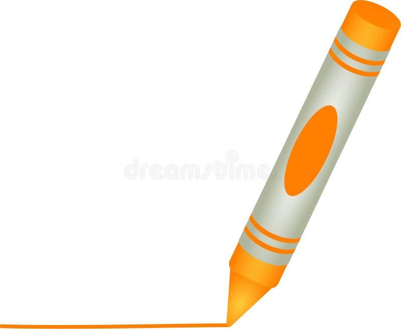 πορτοκάλι κραγιονιών διανυσματική απεικόνιση