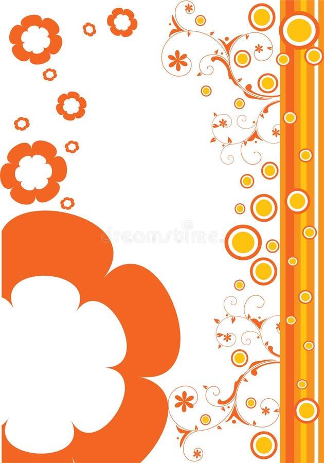 πορτοκάλι λουλουδιών ελεύθερη απεικόνιση δικαιώματος
