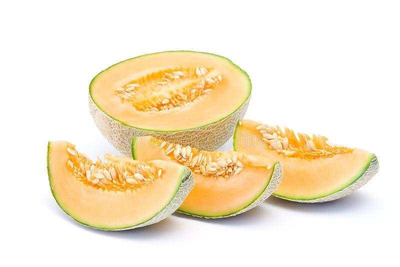 πορτοκάλι πεπονιών πεπον&io στοκ εικόνα με δικαίωμα ελεύθερης χρήσης