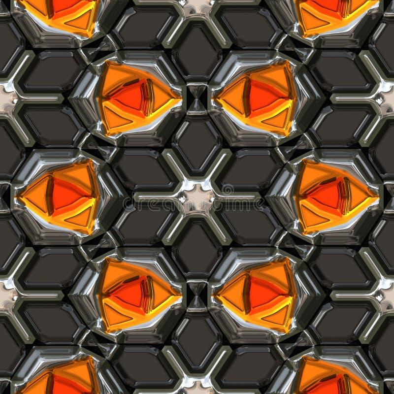 πορτοκάλι πολύτιμων λίθω&nu διανυσματική απεικόνιση