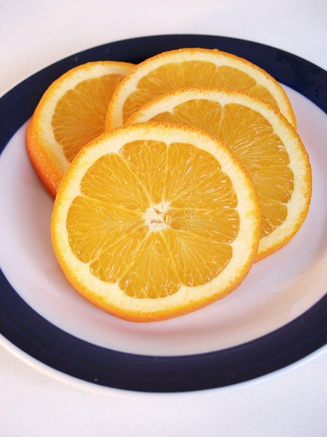 πορτοκάλι που τεμαχίζεται φρέσκο στοκ εικόνες