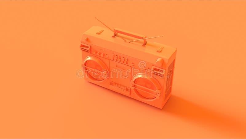 Πορτοκάλι/ροδάκινο Boombox διανυσματική απεικόνιση