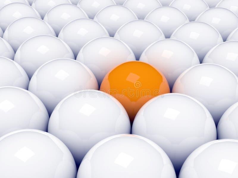 πορτοκάλι σφαιρών διανυσματική απεικόνιση