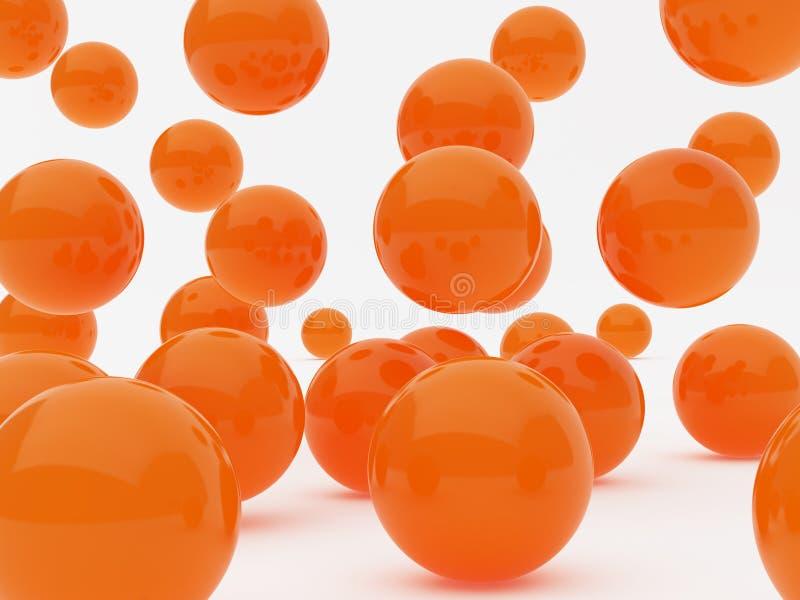 πορτοκάλι σφαιρών απεικόνιση αποθεμάτων