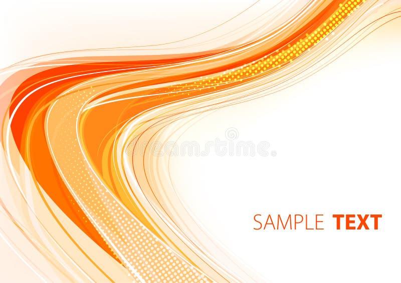 πορτοκάλι σχεδίου καρτών ελεύθερη απεικόνιση δικαιώματος