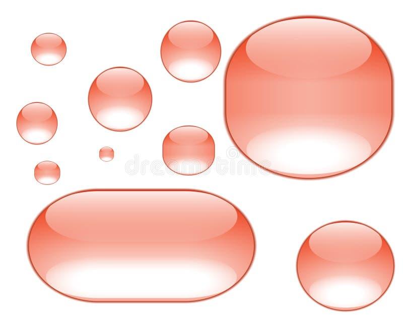 πορτοκάλι φυσαλίδων aqua απεικόνιση αποθεμάτων