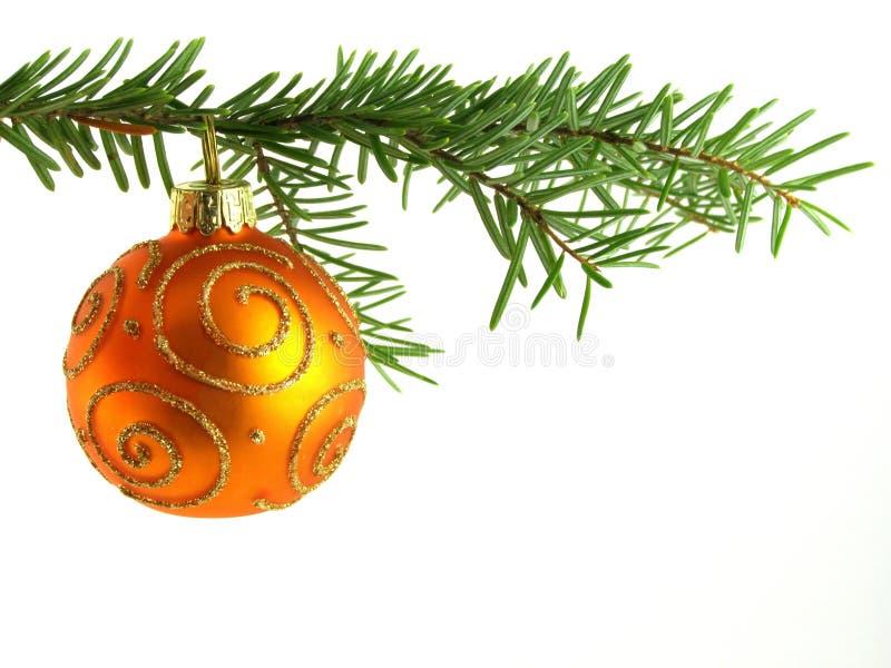 πορτοκάλι Χριστουγέννων μπιχλιμπιδιών στοκ εικόνα με δικαίωμα ελεύθερης χρήσης
