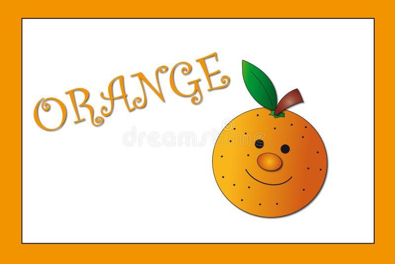πορτοκάλι χρωμάτων απεικόνιση αποθεμάτων