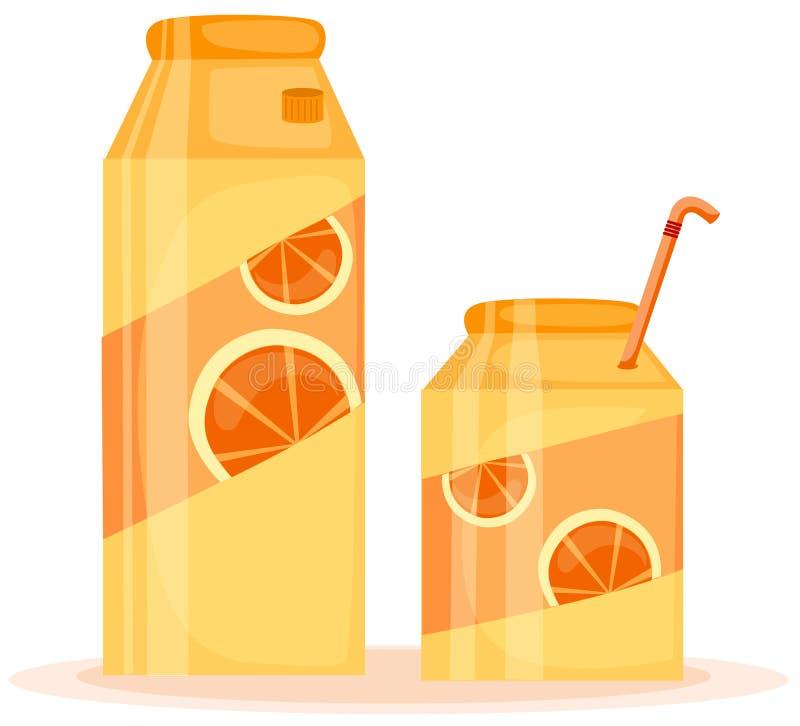 πορτοκάλι χυμού κιβωτίων διανυσματική απεικόνιση