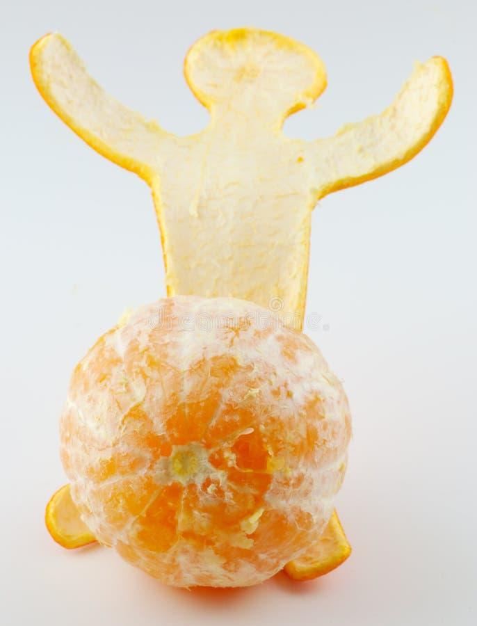 πορτοκάλι 4 ατόμων στοκ φωτογραφίες