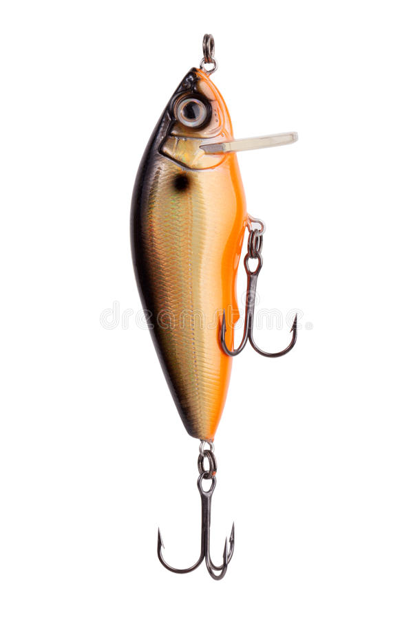 πορτοκάλι lurefor αλιείας ψαριών αρπακτικό στοκ εικόνες