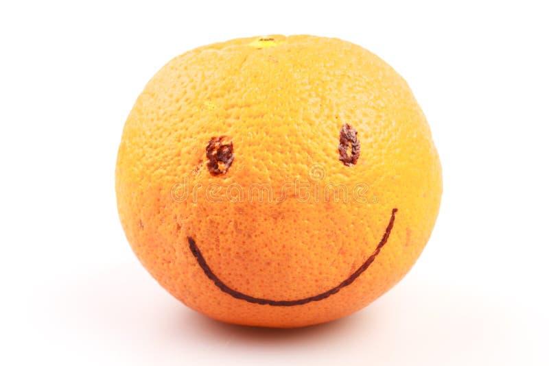 Πορτοκάλι με το πρόσωπο χαμόγελου στοκ εικόνα με δικαίωμα ελεύθερης χρήσης