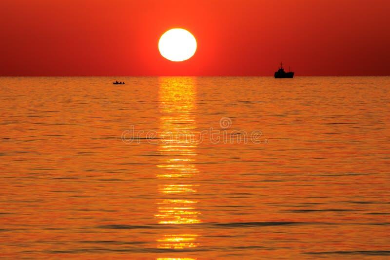 Πορτοκάλι το ηλιοβασίλεμα στοκ φωτογραφίες