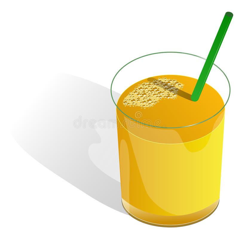 πορτοκάλι χυμού γυαλιο διανυσματική απεικόνιση