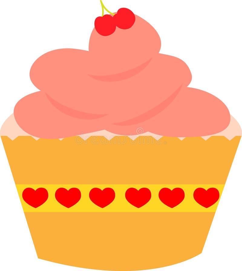 Πορτοκάλι cupcake στοκ φωτογραφία με δικαίωμα ελεύθερης χρήσης