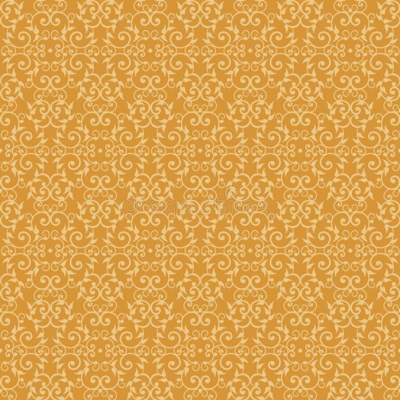 πορτοκαλής βικτοριανός & διανυσματική απεικόνιση