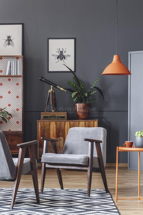 Πορτοκαλής και γκρίζος ανοιχτός χώρος στοκ εικόνες με δικαίωμα ελεύθερης χρήσης
