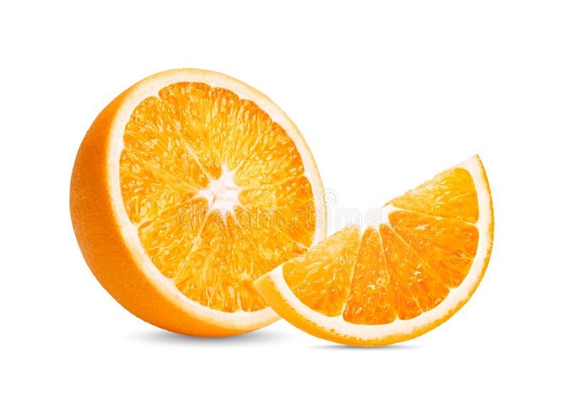 Πορτοκαλής καρπός Η πορτοκαλιά φέτα απομονώνει στο άσπρο υπόβαθρο στοκ φωτογραφίες με δικαίωμα ελεύθερης χρήσης