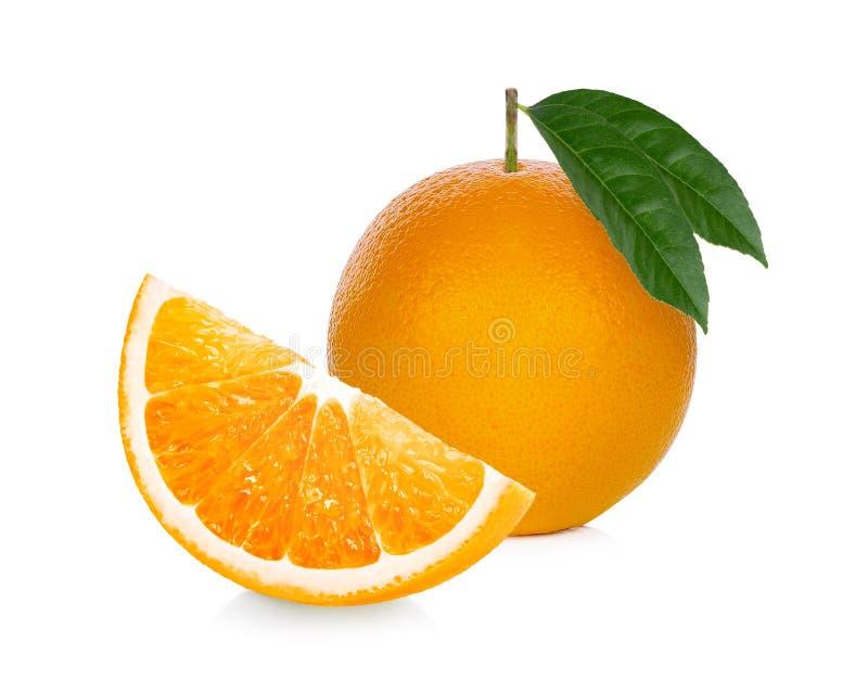 Πορτοκαλής καρπός Η πορτοκαλιά φέτα απομονώνει στο άσπρο υπόβαθρο στοκ εικόνες με δικαίωμα ελεύθερης χρήσης