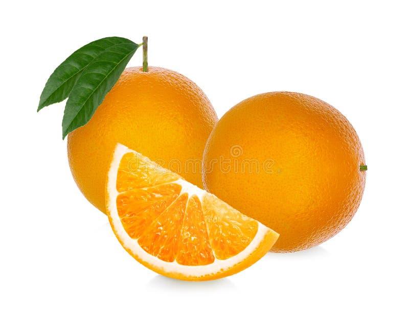 Πορτοκαλής καρπός Η πορτοκαλιά φέτα απομονώνει στο άσπρο υπόβαθρο στοκ εικόνα με δικαίωμα ελεύθερης χρήσης