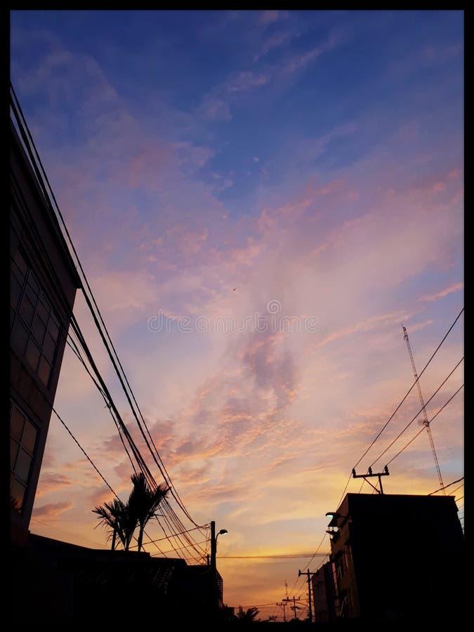 πορτοκαλής ουρανός στοκ φωτογραφίες
