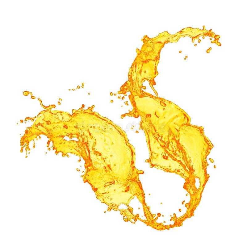 πορτοκαλής παφλασμός χυμού στοκ εικόνα