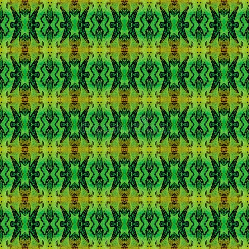 Πορτοκαλής πράσινος τετραγωνικός όλοι πέρα από το άνευ ραφής σχέδιο E στοκ φωτογραφία με δικαίωμα ελεύθερης χρήσης