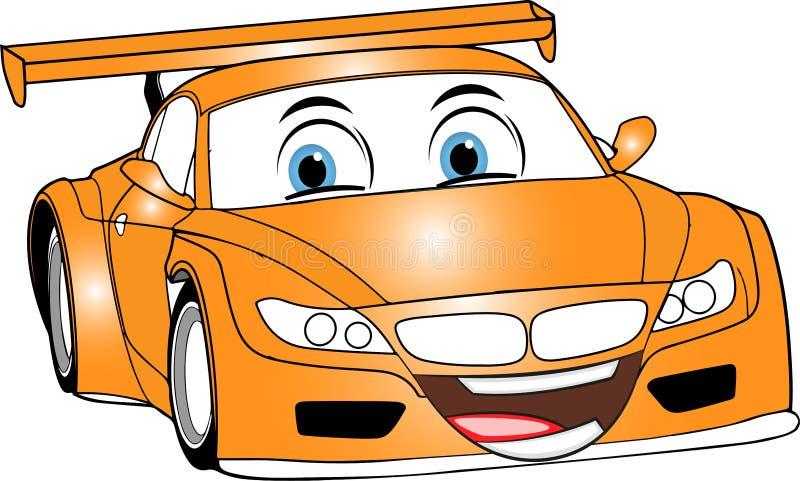 Πορτοκαλί αυτοκίνητο κινούμενων σχεδίων στοκ φωτογραφία
