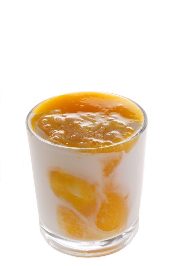 πορτοκαλί γιαούρτι στοκ φωτογραφία