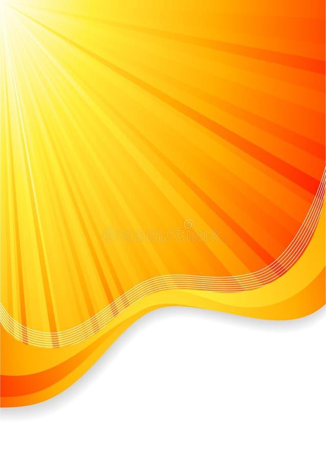 πορτοκαλί διάνυσμα ανασ&ka απεικόνιση αποθεμάτων