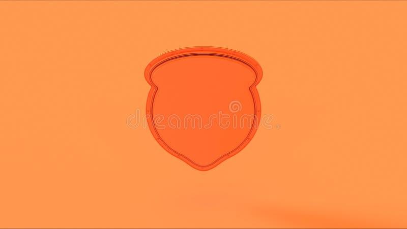 Πορτοκαλί διακριτικό ασπίδων ροδάκινων ελεύθερη απεικόνιση δικαιώματος