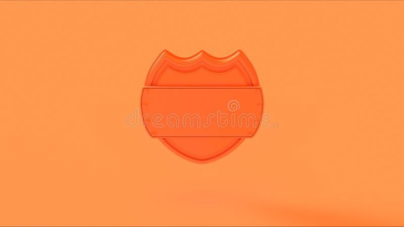 Πορτοκαλί διακριτικό ασπίδων ροδάκινων απεικόνιση αποθεμάτων