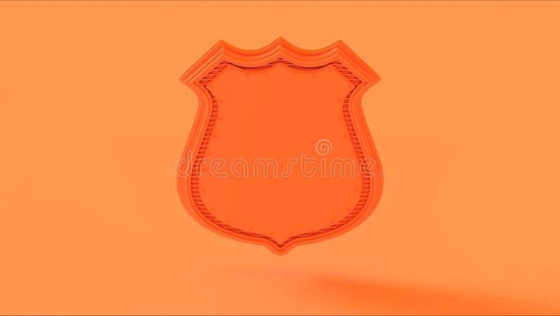 Πορτοκαλί διακριτικό ασπίδων ροδάκινων διανυσματική απεικόνιση