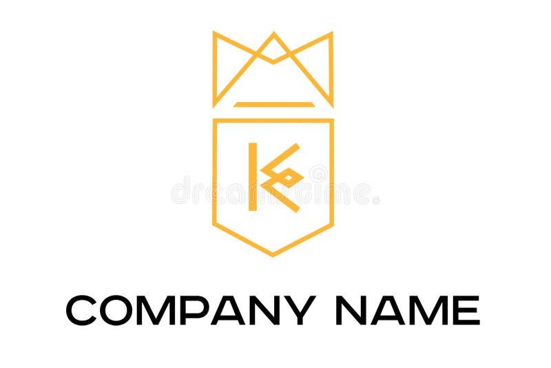 Πορτοκαλί διανυσματικό λογότυπο με το γράμμα Κ απεικόνιση αποθεμάτων
