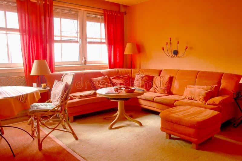 πορτοκαλί δωμάτιο διαβίω στοκ εικόνες με δικαίωμα ελεύθερης χρήσης